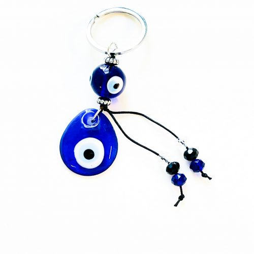 Evil Eye Keychain with beads