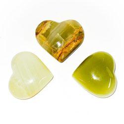 Green Calcite Heart
