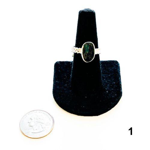 Moldavite Ring Size 8 1 with Quarter