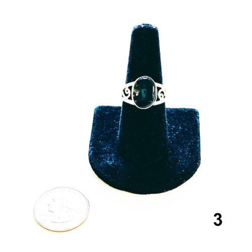 Moldavite Ring Size 8 3 with Quarter