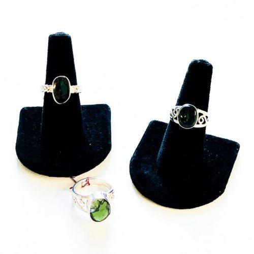 Moldavite Ring Size 8 and 8.5