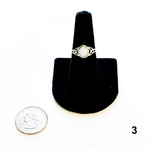 Rainbow Moonstone Ring Size 8 1 with Quarter