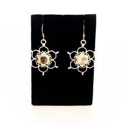 Rose Quartz Lotus Earrings