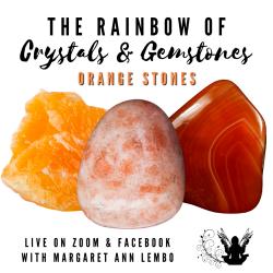 The Rainbow of Crystals and Gemstones - Orange Stones