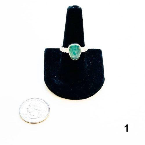 Aquaprase Ring Size 8 - 1 with Quarter