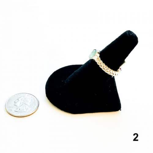 Aquaprase Ring Size 8 - 2 side with Quarter