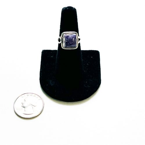 Charoite Ring Size 6 with Quarter