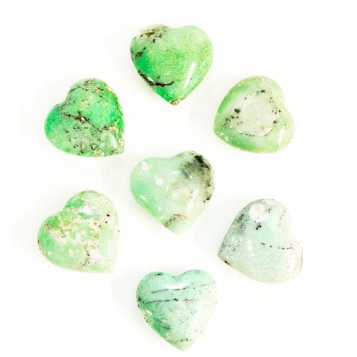 Chrysoprase Hearts