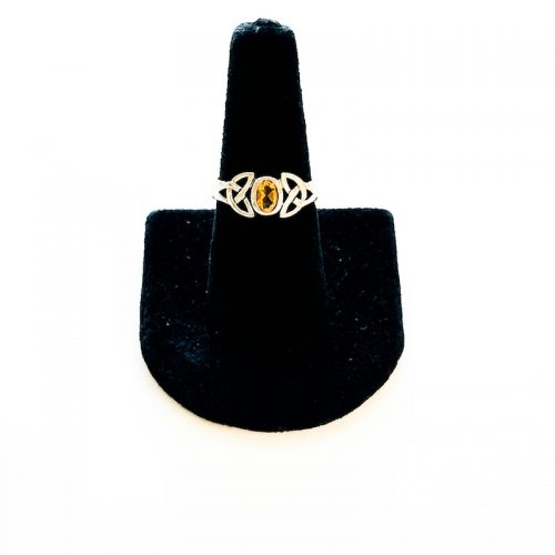 Citrine Celtic Knot Ring Size 8