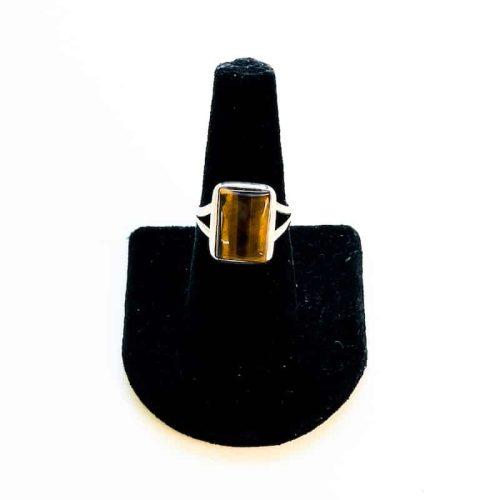 Gold Tiger Eye Ring Size 8