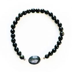Golden Sheen Obsidian Bracelet