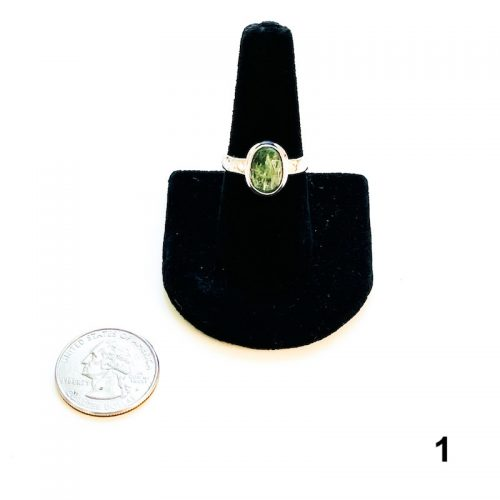 Green Kyanite Ring Size 8 - 1 with Quarter