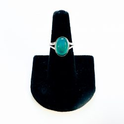 Green Onyx Ring Size 6