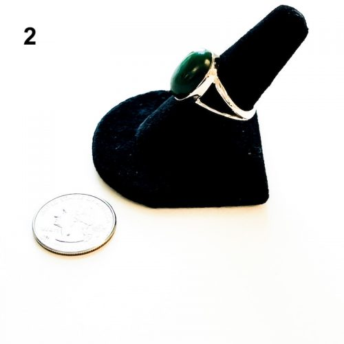 Jade Ring Size 8 Green