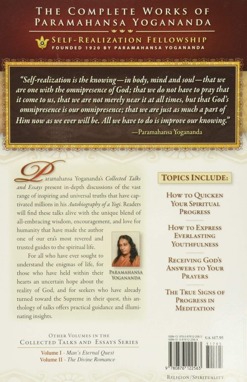 Journey to Self-Realization back cover
