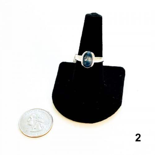 Kyanite Ring Size 8 - 2 with Quarter