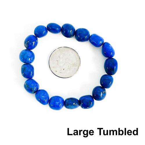 Lapis Lazuli Bracelet Large Tumbled with Quarter