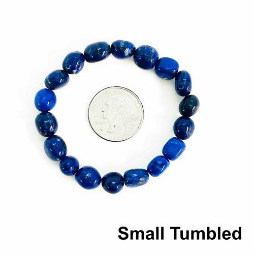 Lapis Lazuli Bracelet Small Tumbled with Quarter