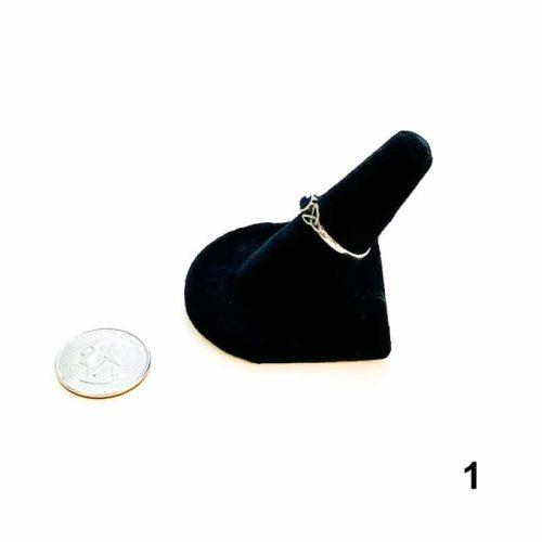 Lapis Lazuli Ring Size 8 - 1 side with Quarter