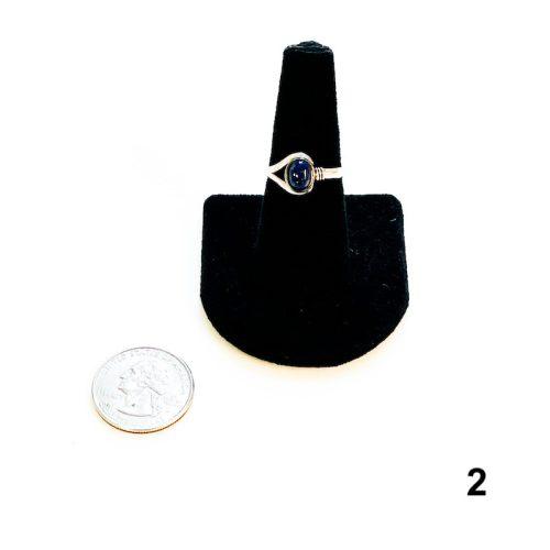 Lapis Lazuli Ring Size 8 - 2 with Quarter