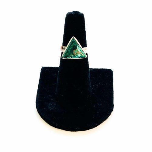 Malachite in Chrysocolla Ring Size 6