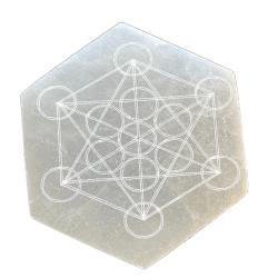 Selenite Hexagon Metatron's Cube
