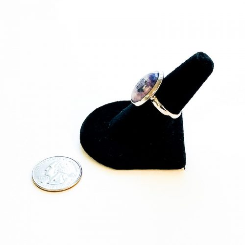 Tiffany Stone Ring Size 8 Side with Quarter