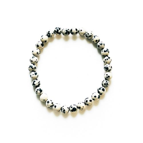 Dalmatian Jasper 6 mm Bracelet