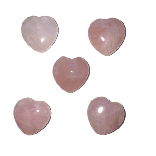 Rose Quartz Heart 1 inch
