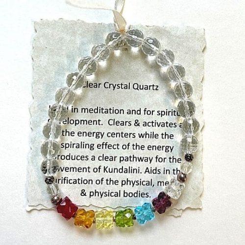 Clear Quartz Crystal Chakra Bracelet