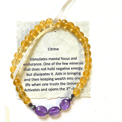 Cover Photo - Citrine Bracelet with Amethyst accent