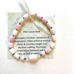 Pink Conch Shell Bracelet (1)