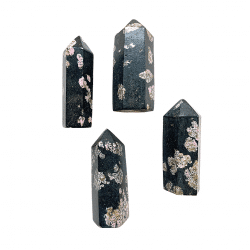 Black Jade with Pink Thulite Point Cover photo