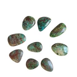 Chrysocolla High Quality tumbled stone cover photo