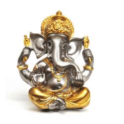 Ganesha Gold and Silver Sitting