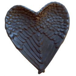 Shungite Wing Heart Bowl - front cover