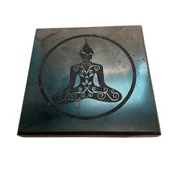 Shungite tile Meditating Buddha Cover Photo