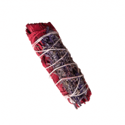 White Sage Smudge Stick with Dragon's Blood and Lavender