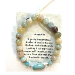 Amazonite with Russian Amazonite Focal Bead Bracelet