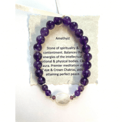 Amethyst with Mother of Peal bead bracelet