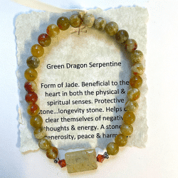 Green Dragon Serpentine Bracelet #1