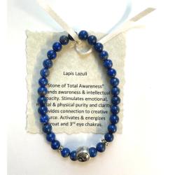 Lapis Lazuli with Silver Yin Yang Bracelet