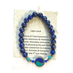 Lapis Lazuli with yin yang Bracelet