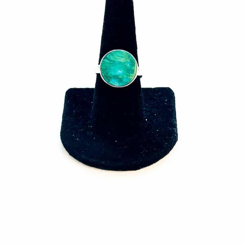 Peruvian Blue Opalina Ring – Size 10