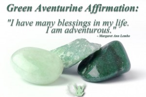 Green Aventurine Gemstone. Green aventurine helps you make the connection between the earth and your heart, allowing your awareness of the elemental world to assist you in your daily life.
