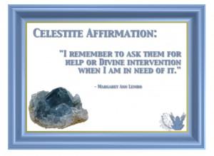 Celestite Gemstone affirmation Margaret Ann Lembo